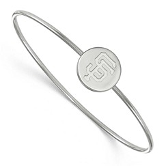 $teamname Sterling Silver Slip on Bangle Bracelet